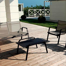 Outdoor sitting aluminum
